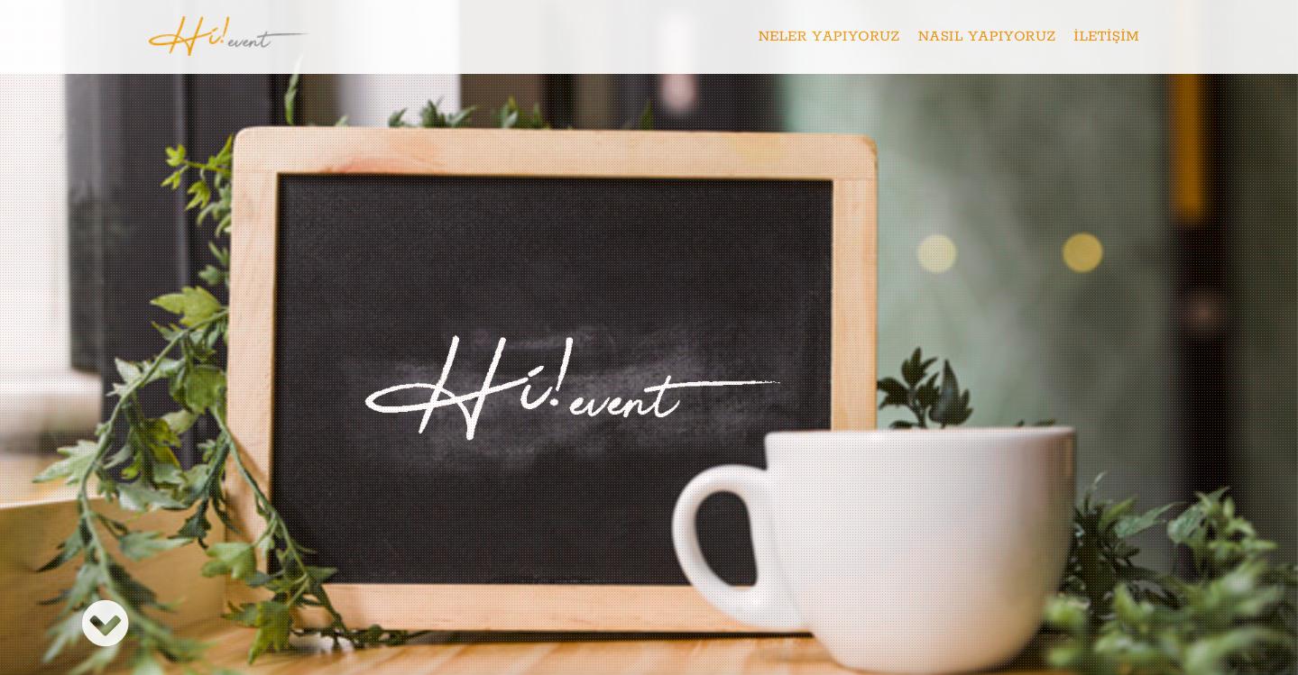 Alper Yanar Hievent website tasarımı